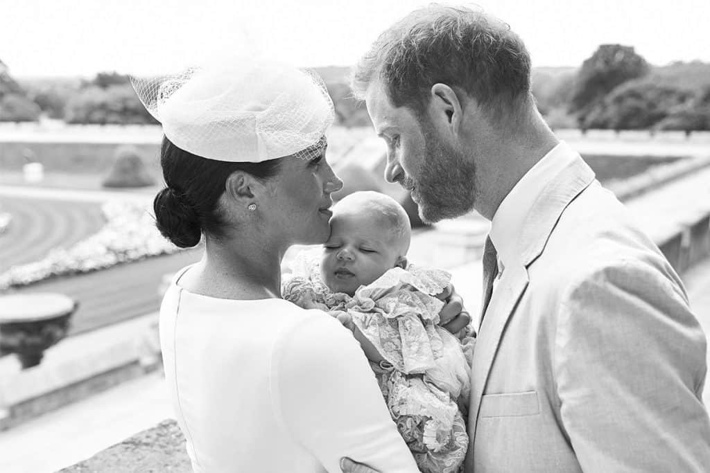 Archie Harrison baptism with Princess Meghan and Prince Henry
